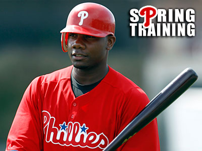 "Charlie Manuel said Ryan Howard suffered ""a little setback"" because of an infection. (Yong Kim/Staff Photographer)"