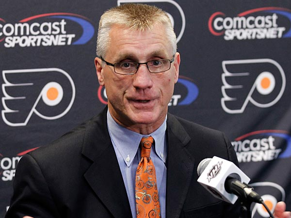 Paul Holmgren, general manager of the Philadelphia Flyers. (AP Photo/Alex Brandon)