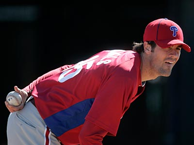 """His command was very good,"" pitching coach Rich Dubee said about Cole Hamels´ cutter and curveball. (David Swanson/Staff Photographer)"