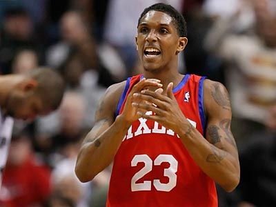 Lou Williams averages 14.7 points and four assists per game this season. (Ron Cortes/Staff Photographer)