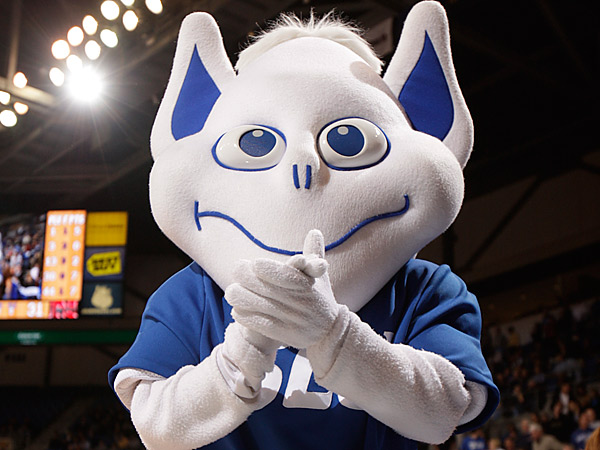 Saint Louis University Billikens mascot. (AP Photo/Jeff Roberson)