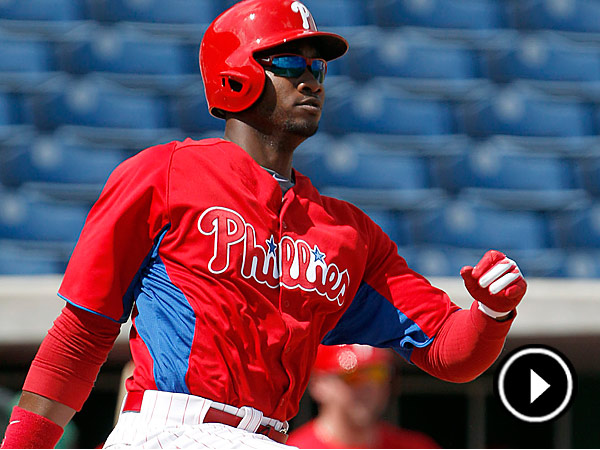Phillies outfielder Domonic Brown. (Young Kim/Staff Photographer)