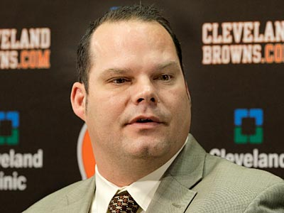 Browns general manager Tom Heckert. (Amy Sancetta/AP)