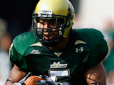 South Florida safety Nate Allen could be available when the Eagles draft 24th overall in the first round. (Chris O´Meara/AP file photo)