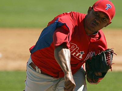 Phillies´ pitcher J.C. Ramirez struck out four batters today in two scoreless innings. (Yong Kim/Staff Photographer)