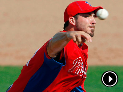 Phillies´ pitcher Phillippe Aumont throws a pitch against Florida State. (Yong Kim/Staff Photographer)