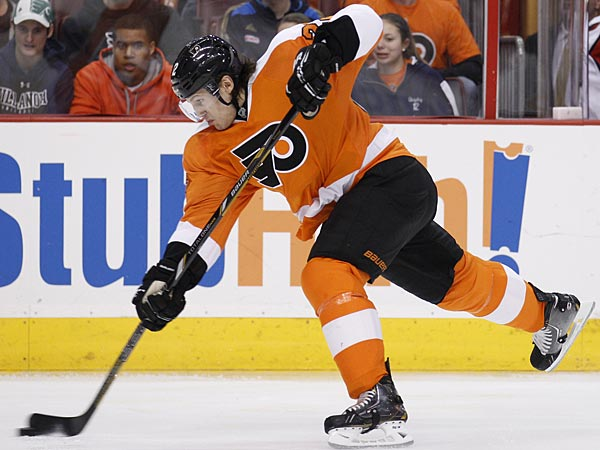 Flyers defenseman Luke Schenn. (Yong Kim/Staff Photographer)