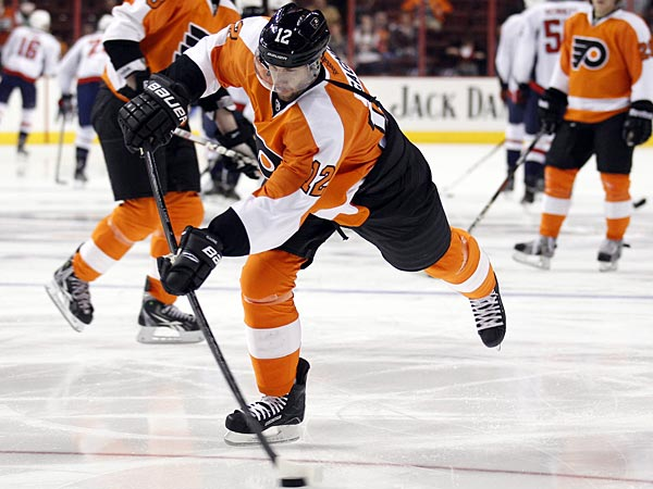 Flyers winger Simon Gagne. (Yong Kim/Staff Photographer)