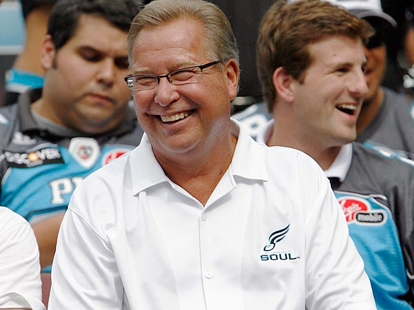 Former Philadelphia Eagles quarterback Ron Jaworski is a co-majority owner of the Philadelphia Soul. (AP Photo/Tom Mihalek)