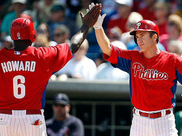Ryan Howard and Chase Utley. (David Maialetti/Staff Photographer)
