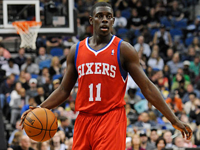 Jrue Holiday and the Sixers host the Heat Friday night at the Wells Fargo Center. (Jim Mone/AP)