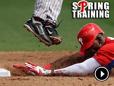 The Phillies stole two bases in their 6-1 win over Florida State on Wednesday. (Matt Slocum/AP)