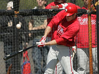"""""""Even without being an MVP each year, he´s right there,"""" Jayson Werth said about Chase Utley. (David Swanson/Staff Photographer)"""
