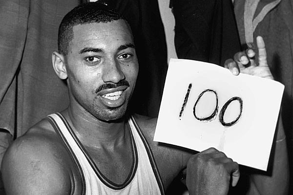 Wilt Chamberlain scored 100 points for the Philadelphia Warriors on March 2, 1962. (Paul Vathis/AP file photo)