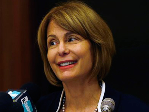 State Sen. Barbara Buono is running for New Jersey governor as a Democrat against Republican incumbent Chris Christie.