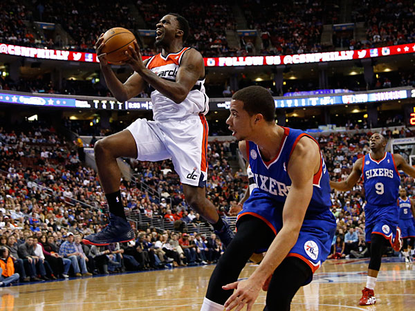 The Wizards´ Martell Webster in action during an NBA basketball game against the Philadelphia 76ers, Saturday, March 1, 2014, in Philadelphia. (Matt Slocum/AP)