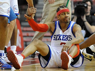 The Sixers announced today that Allen Iverson will not return to the team this season. (Clem Murray / Staff Photographer)