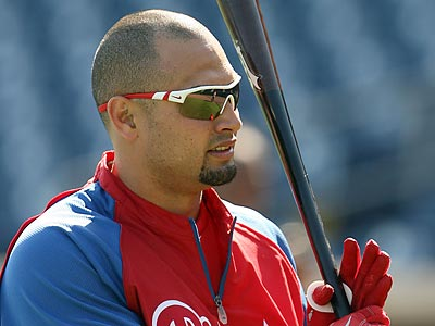 Shane Victorino said Charlie Manuel talked to him about bunting more often. (Yong Kim/Staff Photographer)