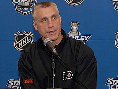 Flyers GM Paul Holmgren did not make a deal at the deadline. (File photo).