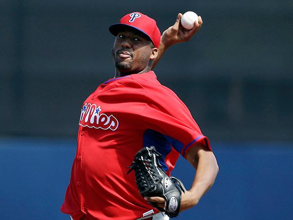 Philadelphia Phillies pitcher Roberto Hernandez. (AP Photo/Steven Senne)