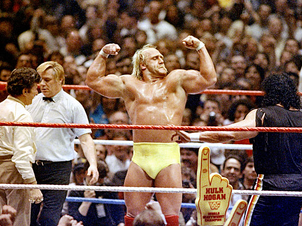 Wrestlemania at Madison Square Garden in New York, March 31, 1985. (AP Photo)