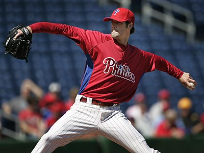 Cole Hamels allowed only two hits in a 9-2 win over the Canadian World Baseball Classic team. (Eric Mencher/Staff Photographer)