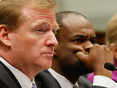 NFL Commissioner Roger Goodell, left, and NFLPA Executive Director DeMaurice Smith.  (AP Photo/Charles Dharapak, File)