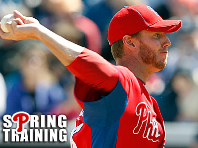 Roy Halladay´s velocity is down this spring. (Yong Kim/Staff Photographer)