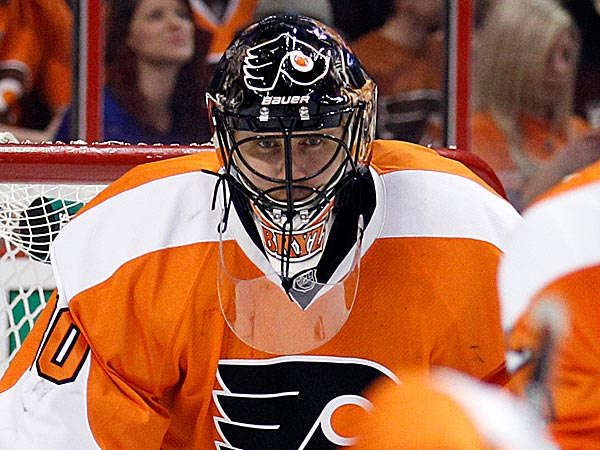 Ilya Bryzgalov hasn't stopped thinking about 'space danger,' but his focus is on goaltending. (Yong Kim/Staff Photographer)