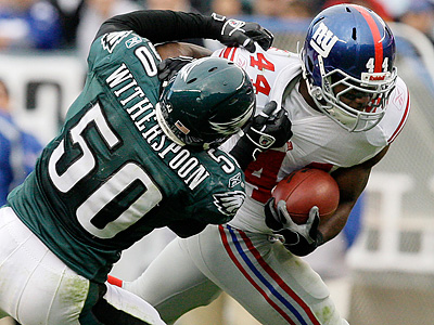 The Eagles have released linebacker Will Witherspoon. (AP Photo/Gene J. Puskar)
