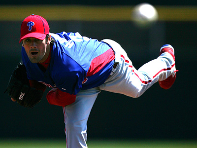 Cole Hamels starts against the Toronto Blue Jays. (David Swanson / Staff Photographer)