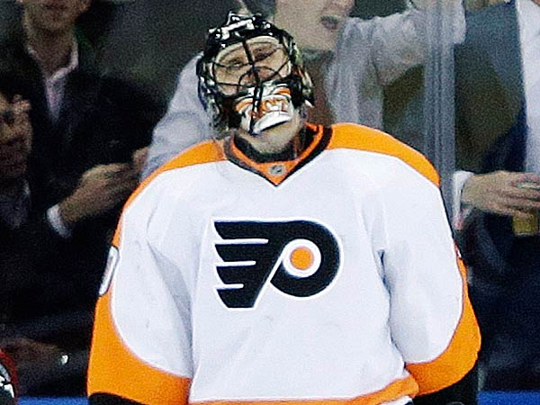 Ilya Bryzgalov was blunt when asked to sum up the first half of the Flyers season. (Frank Franklin II/AP)