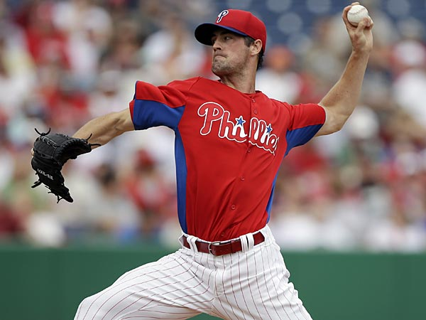 Phillies starting pitcher Cole Hamels. (AP Photo)