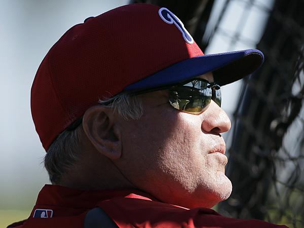 Phillies manager Ryne Sandberg. (Charlie Neibergall/AP)