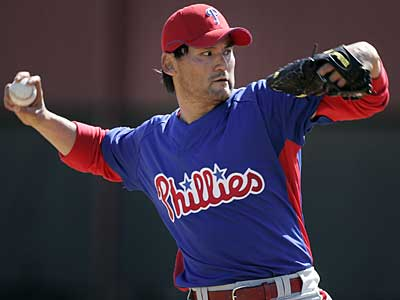 Phillies pitcher Chan Ho Park takes the mound tonight against the Blue Jays. He´s competing with Kyle Kendrick, J.A. Happ and Carlos Carrasco for the fifth spot in the starting rotation. (Eric Mencher / File photo)