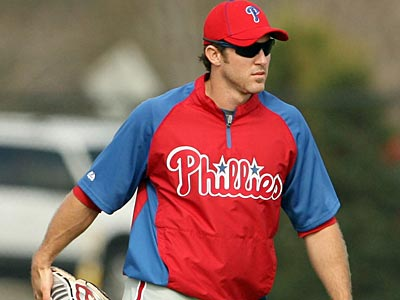 Phillies second baseman Chase Utley has yet to play in a spring training game. (Yong Kim/Staff Photographer)