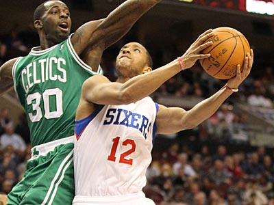 Evan Turner scored a career-high 26 points on Wednesday night against the Celtics. (Charles Fox/Staff Photographer)