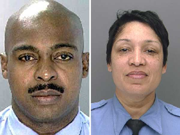Former Philadelphia police officer Gary Cottrell (left) and active officer Cheryl Stephens have been charged in connection with a loan-sharking scheme.