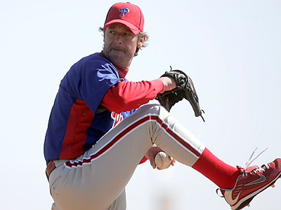 Jamie Moyer allowed five runs against the Blue Jays today. (David Swanson / Staff Photographer)