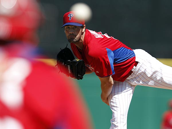 Phillies starting pitcher Cole Hamels. (David Maialetti/Staff Photographer)