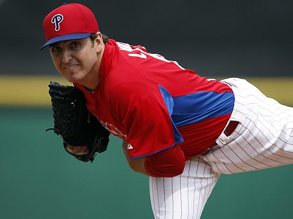 Phillies starting pitcher John Lannan. (David Maialetti/Staff Photographer)