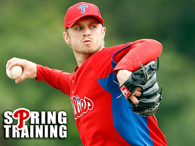 Pitcher Kyle Kendrick started in the Phillies´ split squad game against the Yankees on Sunday. (Yong Kim/Staff Photographer)