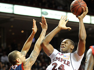 Temple´s Lavoy Allen goes up for a shot. The Owls enter the A-10 tournament as the top seed. (Clem Murray / Staff Photographer)
