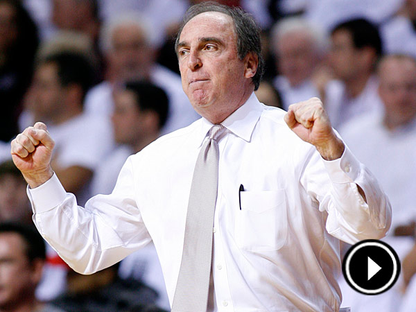 Temple coach Fran Dunphy watches as his team plays VCU in the first<br />half of an NCAA college basketball game on Sunday, March 10, 2013, in<br />Philadelphia. Temple won 84-76. (AP Photo/H. Rumph Jr)