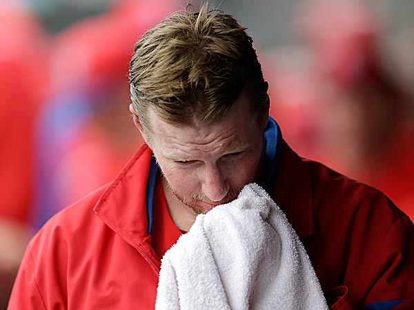 """I think I´ve always been a lot harder on myself than any of you guys have ever been,"" Roy Halladay told reporters. (Kathy Willens/AP)"