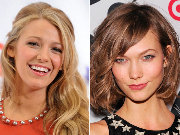 Blake Lively, left, and Karlie Kloss are favorites for their lovely locks.