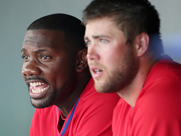 Ryan Howard (left) and Darin Ruf. (Yong Kim/Staff file photo)