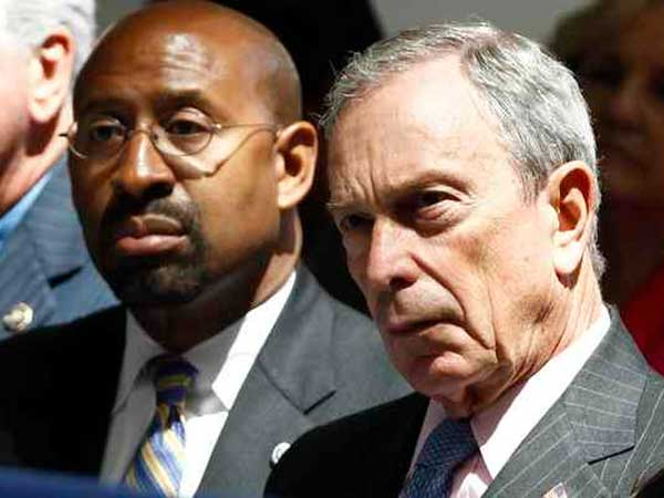 Philadelphia Mayor Michael Nutter and New York Mayor Michael Bloomberg.