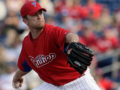 Brad Lidge is sidelined with soreness in his biceps tendon. (Yong Kim/Staff Photographer)