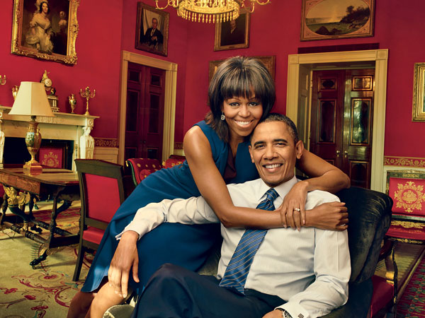 Michelle Obama and the President sat down with Vogue in January. The issue hits newsstands in March. (Photo / Vogue.com)